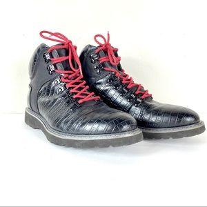Guess *Faxon* Black Lace-Up Combat Boots